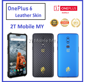 OnePlus 6T / One Plus 6 / 1+6T / 1+6 3D Back Skin Colour Avenger Style Sticker Protector