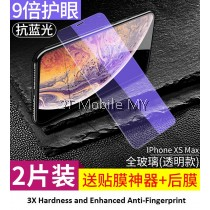 Apple iPhone XS Max / XS / X Anti Bluelight Twin Pack BONAIER Tempered Glass
