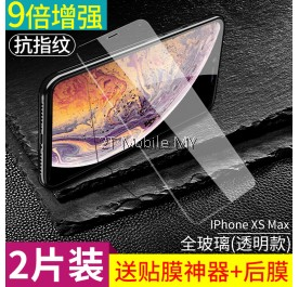 Apple iPhone XS Max / XS / X Twin Pack Bonaier Tempered Glass Screen Protector