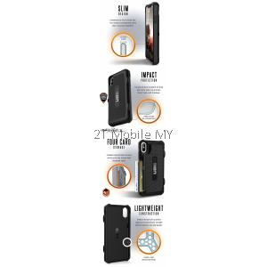 Apple iPhone XS Max / XR UAG Trooper Case Bumper Card Holder ORIGINAL