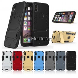 (PROMO) Apple iPhone XS Max Ironman Transformer Kickstand Trendy Bumper Case
