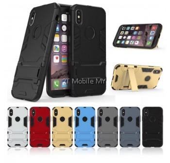 (PROMO) Apple iPhone XS Max Ironman Transformer Kickstand Trendy Bumper Case