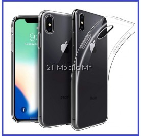 Apple iPhone XS Max / XS / X Soft Transparent Case Slim TPU Cover