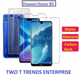 Huawei Honor 8X Matte Diamond Carbon Back Screen Protector