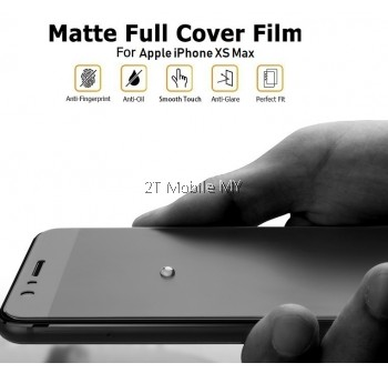 Apple iPhone XS Max / iPhone XS / iPhone X Matte Full 3D Screen Protector Front Back