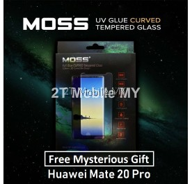 Huawei Mate 20 Pro MOSS Nano UV Full Glue Tempered Glass 9H Case Friendly
