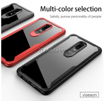 OnePlus 6T 1+6T iPaky Tough Protection Transparent Bumper Case