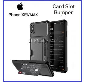 Apple iPhone XS Max Tough Trendy Card Slot Phone Case Bumper Cover