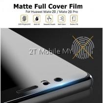 Huawei Mate 20 Pro / Mate 20 Matte Anti-Fingerprint Full 3D Screen Protector