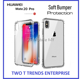 Huawei Mate 20 / Mate 20 Pro Soft Transparent Antidrop Bumper Case Cover