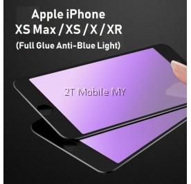 Apple iPhone XS Max / XS / X / XR Full Glue Anti-Blue Light Tempered Glass