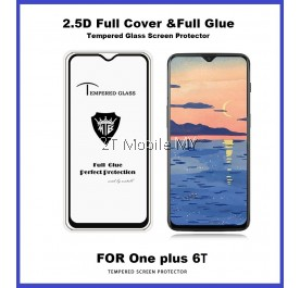 OnePlus 6T 1+6T Full Glue Coverage Tempered Glass Screen Protector