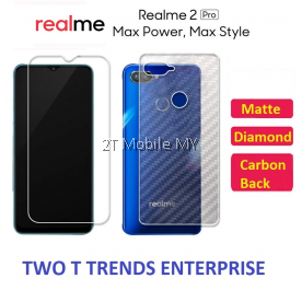 Oppo Realme 2 Pro Matte Diamond Carbon Back Screen Protector