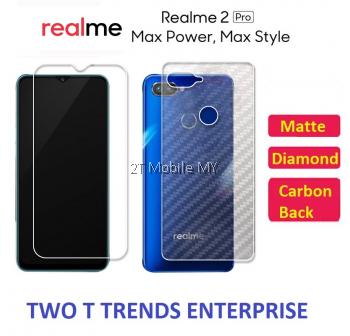 Oppo Realme 2 Pro Matte Diamond Carbon Back Screen Protector