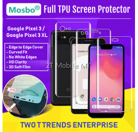 Google Pixel 3A / 3A XL / Pixel 3 / 3 XL Front Back Full Coverage Screen Protector 3D Film