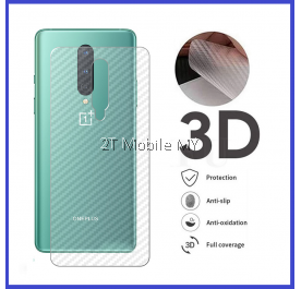 OnePlus 8T / OnePlus 8 / OnePlus 8 Pro / OnePlus 6T Back Carbon Matte Film Protector Anti Fingerprint Sticker