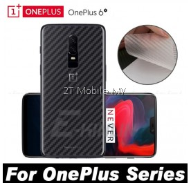 OnePlus 6T / 6 Back Carbon Matte Film Protector Anti Fingerprint