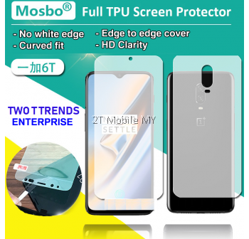 OnePlus 6T 1+6T Front Back Full Coverage Screen Protector 3D Film