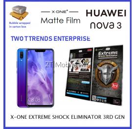 Huawei Nova 3 / Nova 3i X-One Matte Anti-Fngerprint Screen Protector 3rd. Gen