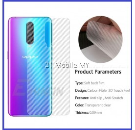 Oppo R17 Pro Back Carbon Matte Film Fiber Protector Anti Fingerprint