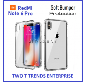 XiaoMi RedMi Note 6 Pro Soft Transparent Antidrop Bumper Case Cover