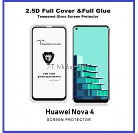 Huawei Nova 4 Full Glue Coverage Tempered Glass Screen Protector