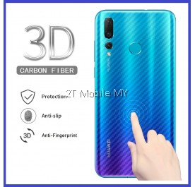 Huawei Nova 4 / Nova 4e Carbon Matte Anti-Fingeprint Fiber Film Back Protector