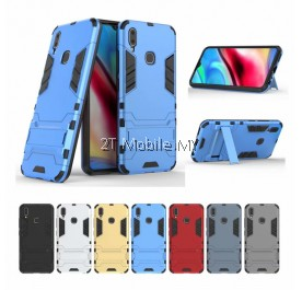 (PROMO) Vivo Y91 Ironman Transformer Kickstand Trendy Bumper Case Cover