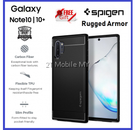 Samsung Galaxy Note 10 / Note 10 Plus / Note 10+ / S10 / S10 Plus Spigen Rugged Armor Case Cover Original