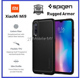 XiaoMi Mi9 Spigen Rugged Armor Case Cover Bumper ORI 1 month warranty