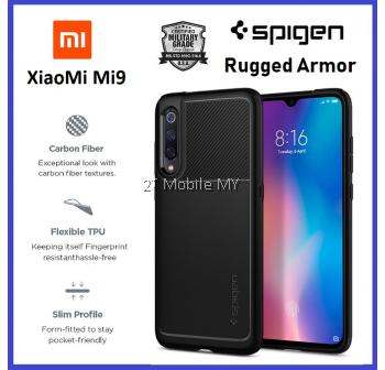 XiaoMi Mi9 Spigen Rugged Armor Case Cover Bumper ORI 1 month warranty