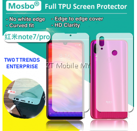 XiaoMi RedMi Note 7 / Note 7 Pro Front Back 3D Full Coverage Screen Protector