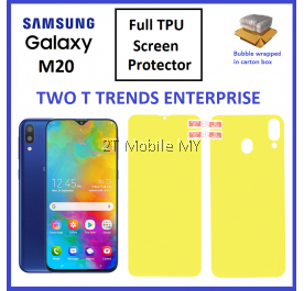 Samsung Galaxy M20 Front Back 3D Full Coverage Screen Protector