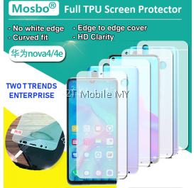 Huawei Nova 4e Front Back 3D Full Coverage Screen Protector