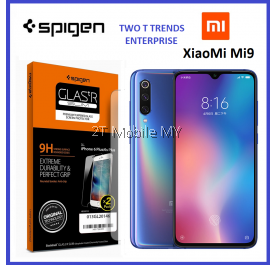 XiaoMi Mi9 Spigen Full Screen GlasTr Slim Tempered Glass Screen Protector