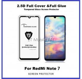 XiaoMi RedMi Note 7 9D 2.5D Full Glue Coverage Colour Tempered Glass Screen Protector