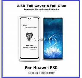 Huawei P30 9D 2.5D Full Glue Cover Tempered Glass Screen Protector