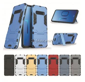 (PROMO) Samsung Galaxy S10 Plus S10+ Ironman Transformer Kickstand Trendy Bumper Case Cover