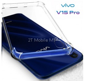 Vivo V15 Pro Transparent TPU Slim Shockproof Phone Case Bumper
