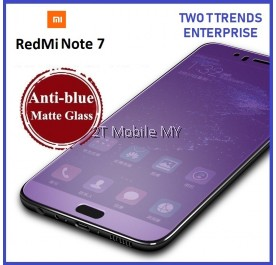 XiaoMi RedMi Note 7 Full Matte Anti Blue Light Ray Tempered Glass Screen Protector