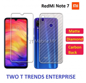 XiaoMi RedMi Note 7 Matte Diamond Carbon Back Screen Protector