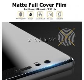 Huawei Nova 4e / P30 Lite Matte Anti-Fingerprint Full Coverage 3D Screen Protector