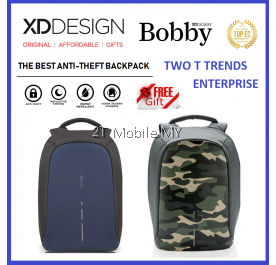 (PROMO) XD Design Bobby Compact / Print Bag FREE PopSocket Best Anti-theft Backpack XDDesign Travel