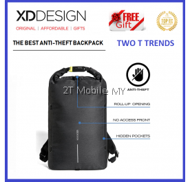 (PROMO) XD Design Bobby Urban Bag FREE PopSocket Best Anti-theft Backpack XDDesign Travel ORI