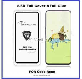 Oppo Reno / R15 Pro / A3S Full Glue Cover Tempered Glass Screen Protector