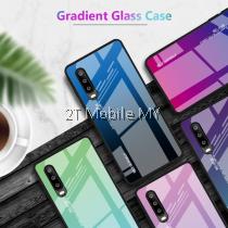 Huawei P30 Pro Aurora Gradient Glass Case Bumper Cover Trendy