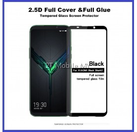 XiaoMi Black Shark 2 Full Glue Cover Tempered Glass Screen Protector 2.5D