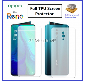 Oppo Reno / Reno 10X Zoom Front Back Full Coverage 3D Screen Protector