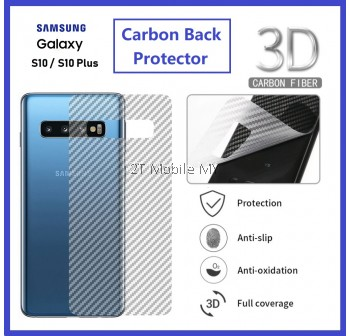 (PROMO) Samsung S10 / S10 Plus / S10e Back Carbon Fiber Matte Film Screen Protector Anti Fingerprint