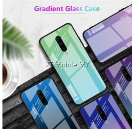 OnePlus 7 Pro 1+7 Pro Aurora Gradient Glass Case Bumper Cover Trendy